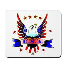 U.S.A. Old School Eagle Tattoo Mousepad