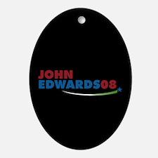 JOHN EDWARDS PRESIDENT 2008 Oval Ornament