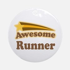 Awesome Runner Ornament (Round)