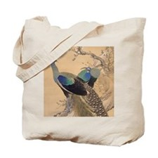 A Pair of Peacocks by Imao Keinen Tote Bag