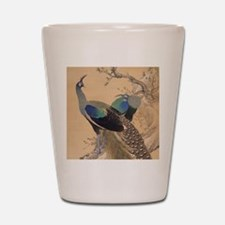 A Pair of Peacocks by Imao Keinen Shot Glass