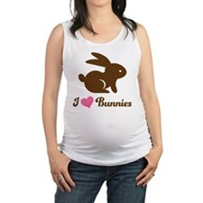Easter I Love Chocolate Bunnies Maternity Tank Top