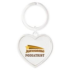 Awesome Podiatrist Heart Keychain