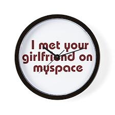 MySpace Girlfriend Wall Clock
