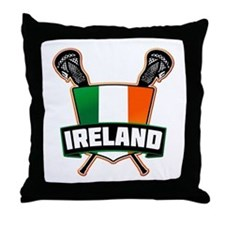 Ireland Irish Lacrosse Team Logo Throw Pillow