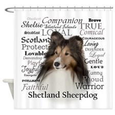 Sheltie Traits Shower Curtain