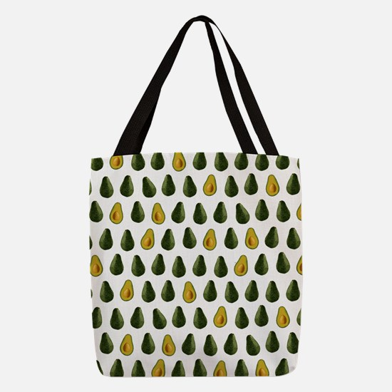 Avocado Pattern Polyester Tote Bag