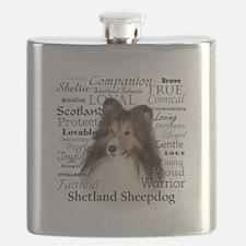 Sheltie Traits Flask