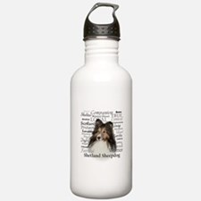 Sheltie Traits Water Bottle