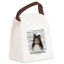 Sheltie Traits Canvas Lunch Bag