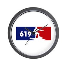 619 Surf Wall Clock