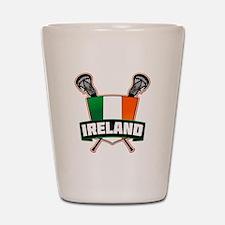 Ireland Irish Lacrosse Team Logo Shot Glass