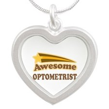 Awesome Optometrist Silver Heart Necklace