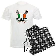 Ireland Irish Lacrosse Team Logo Pajamas