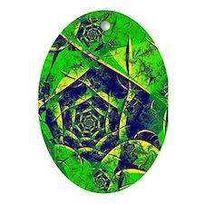 """Mystery"" Fractal Art Oval Ornament"
