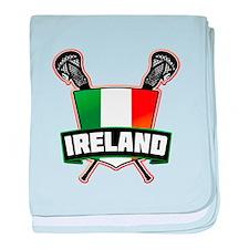 Ireland Irish Lacrosse Team Logo baby blanket