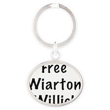 free wiarton willie Oval Keychain