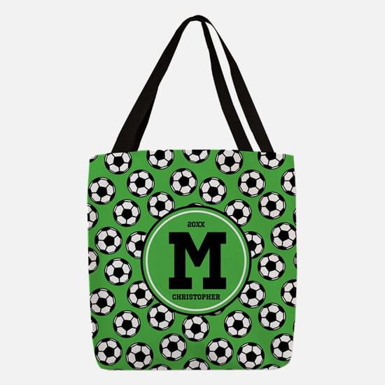 MONOGRAM Soccer Pattern Polyester Tote Bag