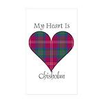 Heart - Chisholm Sticker (Rectangle 50 pk)