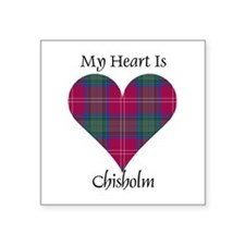 "Heart - Chisholm Square Sticker 3"" x 3"""