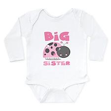 Pink Ladybug Big Sister Long Sleeve Infant Bodysui