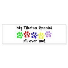 Tibetan Spaniel Walks Bumper Bumper Sticker