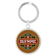Olympic Old Label Round Keychain