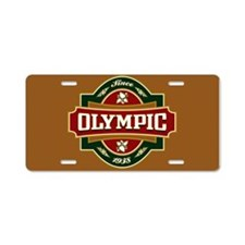 Olympic Old Label Aluminum License Plate