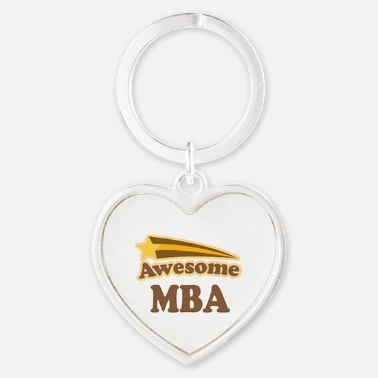 Awesome MBA Heart Keychain