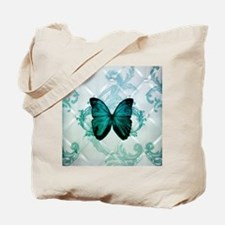 damask butterfly vintage Tote Bag