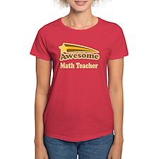 Awesome Math Teacher Tee