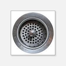 """Kitchen Sink Drain Square Sticker 3"""" x 3"""""""