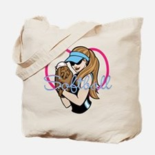 Cute Softball Girl Tote Bag