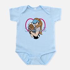 Cute Softball Girl Infant Bodysuit
