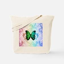 damask butterfly vintage Tote Bag