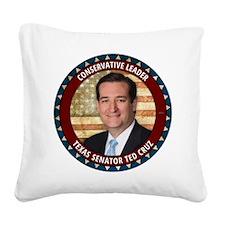Conservative Leader Square Canvas Pillow