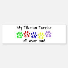 Tibetan Terrier Walks Bumper Bumper Bumper Sticker