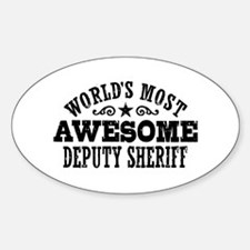 World's Most Awesome Deputy Sheriff Decal