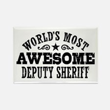 World's Most Awesome Deputy Sheriff Rectangle Magn