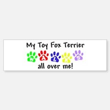 Toy Fox Terrier Walks Bumper Bumper Bumper Sticker