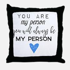 Cute My best friend Throw Pillow
