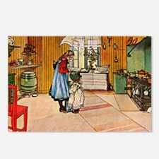 The Kitchen, painting by  Postcards (Package of 8)