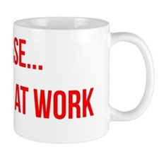 Quiet Please Introvert at Work Small Mug
