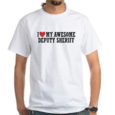 I Love My Awesome Deputy Sheriff Shirt