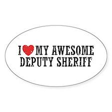 I Love My Awesome Deputy Sheriff Decal