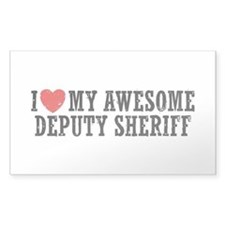 I Love My Awesome Deputy Sheriff Decal