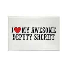 I Love My Awesome Deputy Sheriff Rectangle Magnet