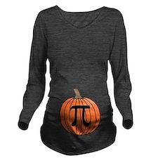 Pumpkin Pi Long Sleeve Maternity T-Shirt