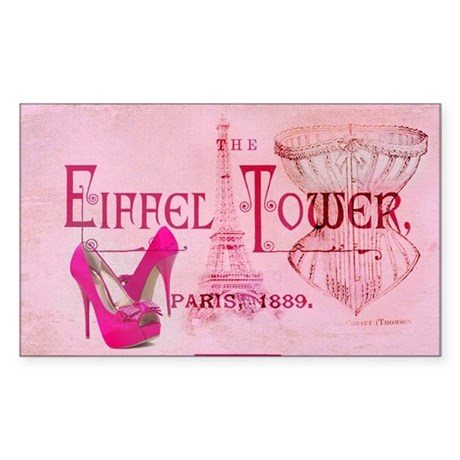 eiffel tower stiletto Sticker (Rectangle)