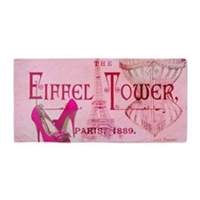 eiffel tower stiletto Beach Towel